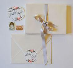 Handpainted Names Wedding Adhesive Label, via Etsy.