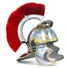QUALITYMUSICSHOP Roman-Centurion-Head-Eagle-Shape-Armour-Helmet-W-Red-Crest-Plume