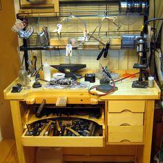 Sara Westermark's Jewelers bench