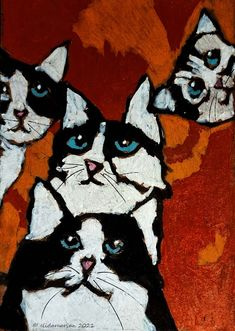 Art Journals, Photographs, Paintings, Abstract, Cats, Animals, Summary, Gatos, Animales