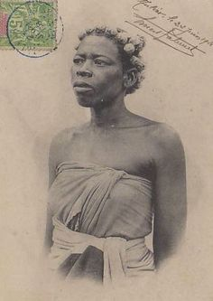 Vintage portraits of Bara women in Madagascar