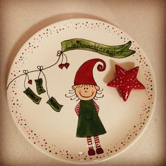Painted Plates, Ceramic Plates, Decorative Plates, Hand Painted, Hand Built Pottery, Slab Pottery, Pottery Animals, Paint Your Own Pottery, Ceramic Painting