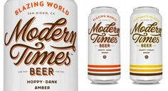 """Modern Times Beer Designed by Helms Workshop Description from Designers : """"Austin-based branding and design firm Helms Workshop is proud to unveil the Cool Packaging, Beverage Packaging, Beer Packaging, Typography Design, Lettering, Pint Of Beer, Dr Pepper Can, Type Treatments, Label Design"""