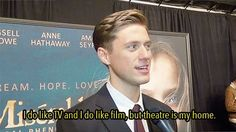 :) Me too... like I've ever been on TV! But, yeah, I like theatre a lot better than a camera
