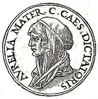 Aurelia Cotta - (May 120 – July 54 BC) was the mother of Roman dictator Gaius Julius Caesar – 44 BC). Gaius Julius Caesar, Rome Antique, Roman Emperor, Roman Art, Ancient Rome, Portrait, How To Memorize Things, Emperor Augustus, Coins