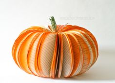 Large Book Page Pumpkin