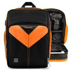 DURAGADGET Black Rucksack w//Adjustable Padded Interior /& Raincover Compatible with Canon Vixia HF G20 G10 /& LEGRIA HF G25