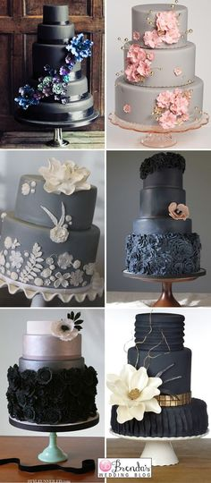 What's black, white and delicious all over? These #wedding cakes.