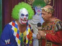 WWE / WWF WRESTLEMANIA 9: Doink The Clown talks to Mean Gene about facing Crush