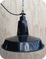 vintage industrial lighting - black factory light by www.icotraders.co.nz