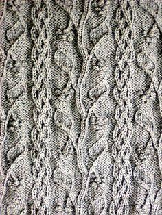 Grapevine detail ~ Alice Starmore