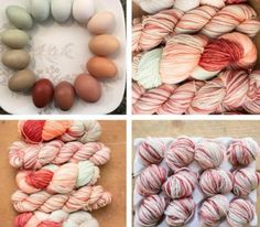 """Jimmy Beans Wool and Madelinetosh Limited Edition July 2015 - """"Free Range Eggs""""!  We've gone out to the garden for this month's Tasty Tosh 2015 installment - inspired by a photo from one of our local Reno egg farms, Reynolds Ranch, we wanted to create a color that showed off just how gorgeous free range eggs really are!"""