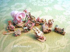 For Karen  Antique style  Mechanical Toy Cottage door JillDianneArt
