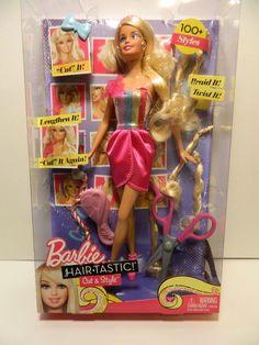 Barbie Hair Tastic Cut & Style  Blond  Hair   Ages 3+         ***New in Box*** #Mattel