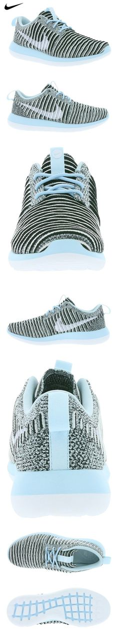 NIKE Womens Wmns Roshe Two Flyknit Glacier Blue/White-Black 8 US