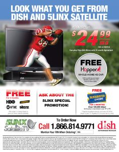 5LINX Satellite offers satellite television from the two largest satellite carriers in the U.S. Click on the ad for more information and promotions. RIN#: L560192