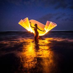 "1,723 Likes, 23 Comments - Light-painting - Eric Paré (@ericparephoto) on Instagram: ""#lightpainting with @rara_suhita_laksmi at @panpacificbali in #indonesia. Created with the help of…"""
