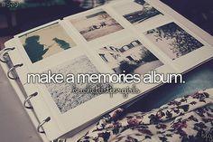 Make memories albums