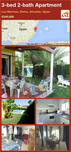 3-bed 2-bath Apartment in Las Marinas, Denia, Alicante, Spain ►€240,000 #PropertyForSaleInSpain