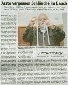 WAZ vom 06.10.2012 - Ärzte vergessen Schläuche im Bauch - Rechtsanwaltskanzlei Sabrina Diehl