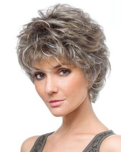 Hairstyles for Seniors - Bing images Short Hair Over 60, Short Grey Hair, Very Short Hair, Short Hair Styles Easy, Short Hair With Layers, Curly Hair Styles, Black Hair, Hairstyles For Seniors, Short Curly Hairstyles For Women