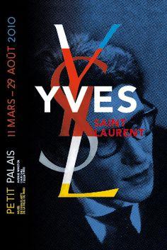 Philippe Apeloig, Yves Saint Laurent exhibition at Petit Palais, 2009