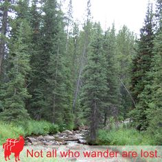 Not all who wander are lost.  #Wanderlust