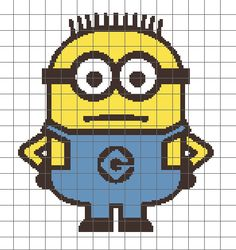 Despicable Me Minion Crochet Graph