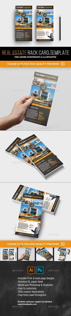Corporate Tax Refund Financial Rack Card Flyer Brochures, Flyer - rack card template