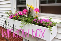 Add some spunk to your windows with this DIY Window Box & Flower Guide. Easy to make AND maintain! _ Makegrowdo.com