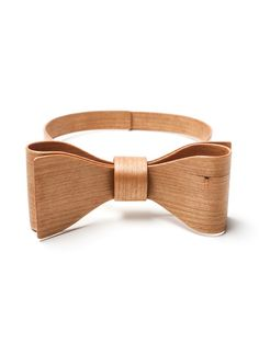 Steinunn Vala Wooden bow tie