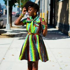 Loooove it! Colorful and chic.