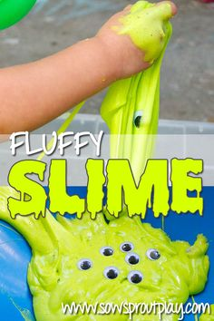 Sensory Play – Fluffy Slime