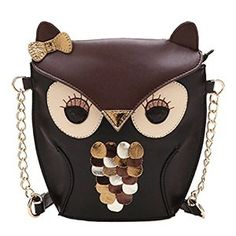 New Fashion Women Leather Handbag Cartoon Bag Owl Fox Shoulder Bags: Amazon.co.uk: Sports & Outdoors