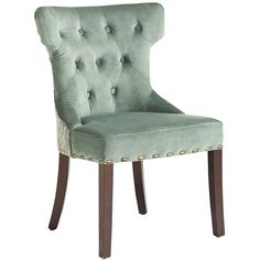 Pier One Hourglass Dining Chair - Smoke Blue Damask ($200) ❤ liked on Polyvore