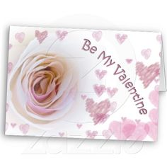 Created By FloralbyFred: Valentine's Day White Rose Greeting Card #gift #photogift #zazzle