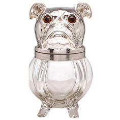 Large Novelty Ice Bucket in the Form of a Dog, French, circa 1920-1925   From a unique collection of antique and modern barware at https://www.1stdibs.com/furniture/dining-entertaining/barware/