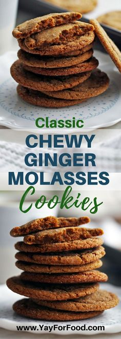 Check out these delicious sweet and spiced gingersnap (ginger molasses) cookies! Makes 32 tasty classic cookies in under 30 minutes! Desserts   Cookies   Holiday recipes   Christmas Recipes   Sweets   Easy Recipes