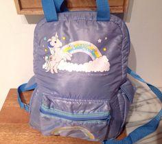 RARE My Little Pony Vintage Blue Bagpack Sac À Dos 1983 Hasbro   eBay