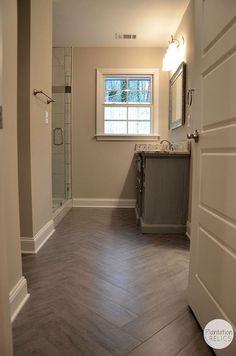Hometalk :: Pink Bathroom Transformation-- Flip House Hall Bathroom Renovation