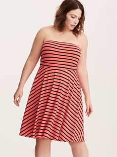 Plus Size Striped Tube Dress 69161edde