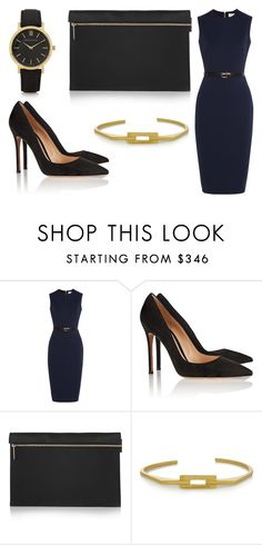 """""""Sans titre #1031"""" by carla-afonso on Polyvore featuring mode, Victoria Beckham, Gianvito Rossi, Maria Black et Larsson & Jennings"""