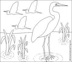 Great Egret Coloring/Writing Printout- EnchantedLearning.com