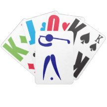 #Golf Player Blue White #Sports, add text and color Bicycle #Playing #Cards