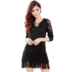 cb4be2facb63 big size sexy lace girls dresses wholesale k1012713 Black