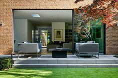 Vision aluminium sliding patio doors are designed to use minimal frame thickness allowing you to enjoy uninterrupted views, and optimising daylight, a key concept in modern architecture. 'See the view not the door. Sliding Door Shutters, Aluminium Sliding Doors, Sliding Door Window Treatments, Sliding Door Systems, Shutter Doors, Aluminium Windows, Condo Floor Plans, Edwardian House, Traditional Doors