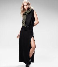Black maxi dress H