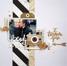 I treasure you by harbourgal at @ studio_calico - papercrafting scrapbook layout Love Scrapbook, Scrapbook Cover, Recipe Scrapbook, Scrapbook Journal, Scrapbook Sketches, Scrapbook Page Layouts, Scrapbook Paper Crafts, Scrapbook Supplies, Scrapbook Cards