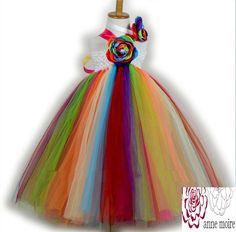 Rainbow Delight Flavor Of The Month Flower Girl Tutu Dress