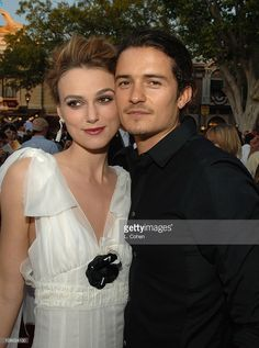 Keira Knightley and Orlando Bloom during 'Pirates of the Caribbean: Dead Man's Chest' World Premiere - Red Carpet at Disneyland in Anaheim, California, United States.